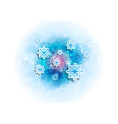 Blue shiny sparkling christmas winter background vector