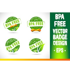Bpa free Badge Logo vector image