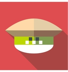 Cap taxi driver icon flat style vector