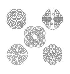Celtic knot ethnic ornament vector