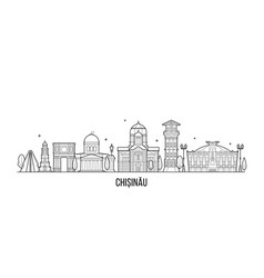 chisinau skyline moldova city buildings vector image