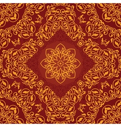 Decorative rosette arabesque seamless pattern vector