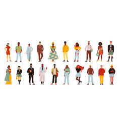 Different nations people set vector