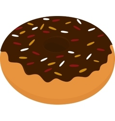 Donut icon sweet snack isolated on white vector