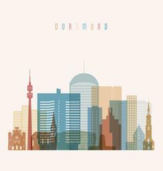 Dortmund skyline detailed silhouette vector