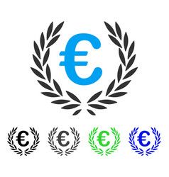 Euro laurel wreath flat icon vector