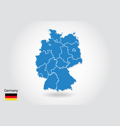 germany map design with 3d style blue germany map vector image