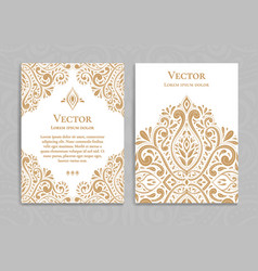 gold vintage greeting card on a white background vector image