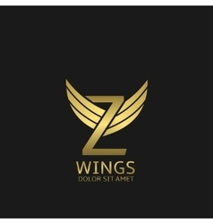 Golden Z letter logo vector image vector image