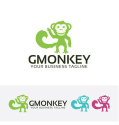 good monkey logo design vector image