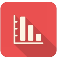 Graph Down icon vector image
