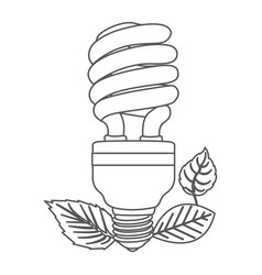 Grayscale contour with fluorescent bulb spiral and vector