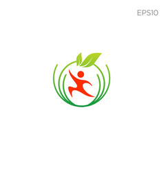 halthcare fitness logo icon or symbol isolated vector image