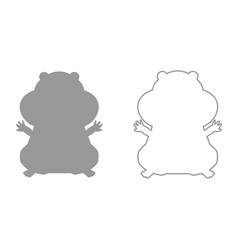 Hamster silhouette it is black icon vector