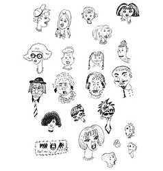 heads collection vector image