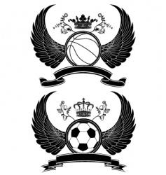 heraldic sport pattern vector image