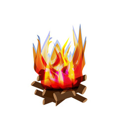 Holiday lag baomer lag baomer big bonfire fire vector