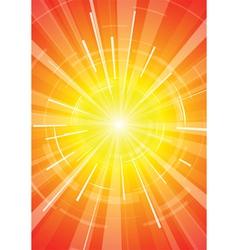 hot summer sun vector image vector image