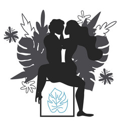 Kama sutra a man and a woman have sex art of vector