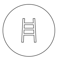 Ladder black icon in circle outline vector
