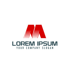 letter m logo design concept template vector image