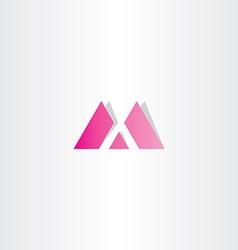 Letter m magenta logo vector