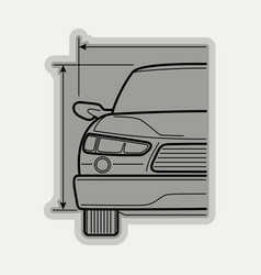Line flat icon car parts vector