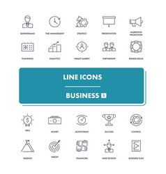 line icons set business 1 vector image