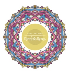 Mandala for coloring with decorative elements vector