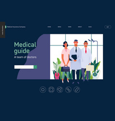 medical insurance template - medical guide vector image