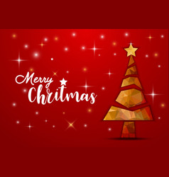 merry christmas and happy new year fancy gold vector image