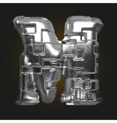 Metal figure m vector