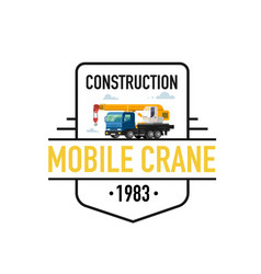 Mobile crane logo vector