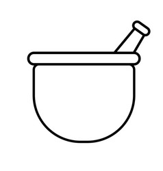 Mortar icon vector