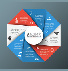 Octagon infographic vector