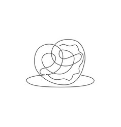 one single line drawing fresh delicious vector image