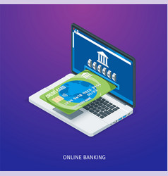 online banking concept vector image