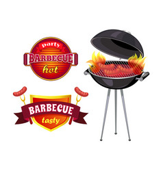 Party barbecue set of icons vector