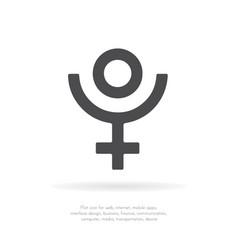 pluto symbol icon vector image