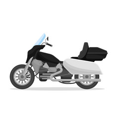 Police motobike on a white vector