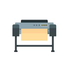 Printer plotter icon flat style vector