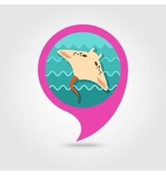 Ramp fish pin map icon Summer Vacation vector