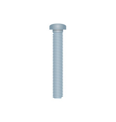 Realistic hex bolt isolated on white background vector