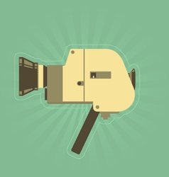 Retro hand film camera in simple style vector image