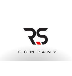 Rs logo letter design vector