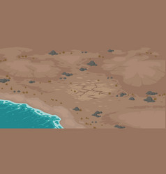 Sea beach and wasteland with dry cracked soil vector