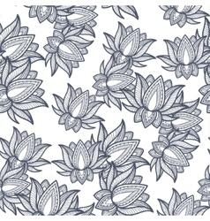 Seamless Pattern Lotus vector image