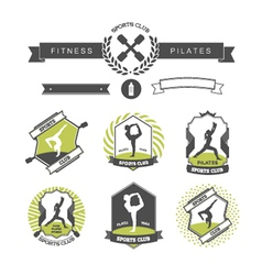 Set sports clubs badges vector