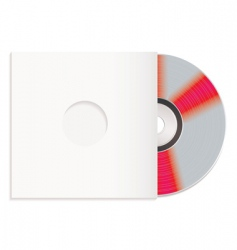 shiny cd and paper case vector image