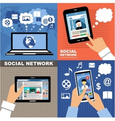 Social Networks vector